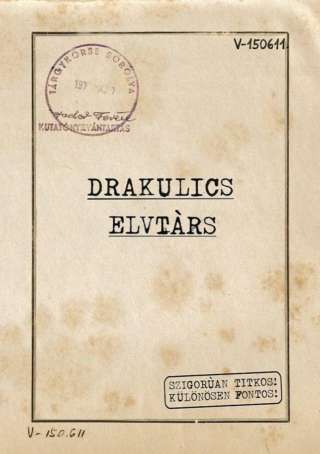 Drakulics elvtárs